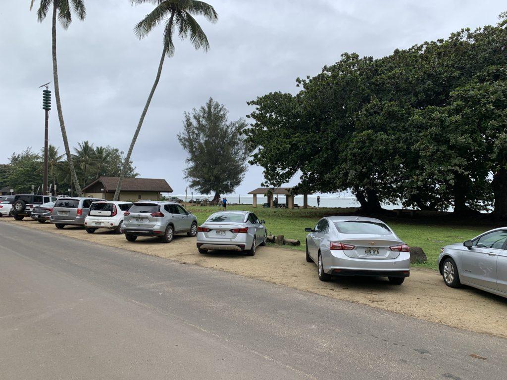 Anini_Beach_Park_Parking