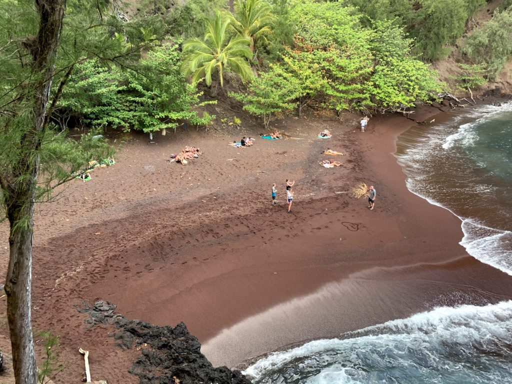 Kaihalulu Red Sand Beach Looking Down