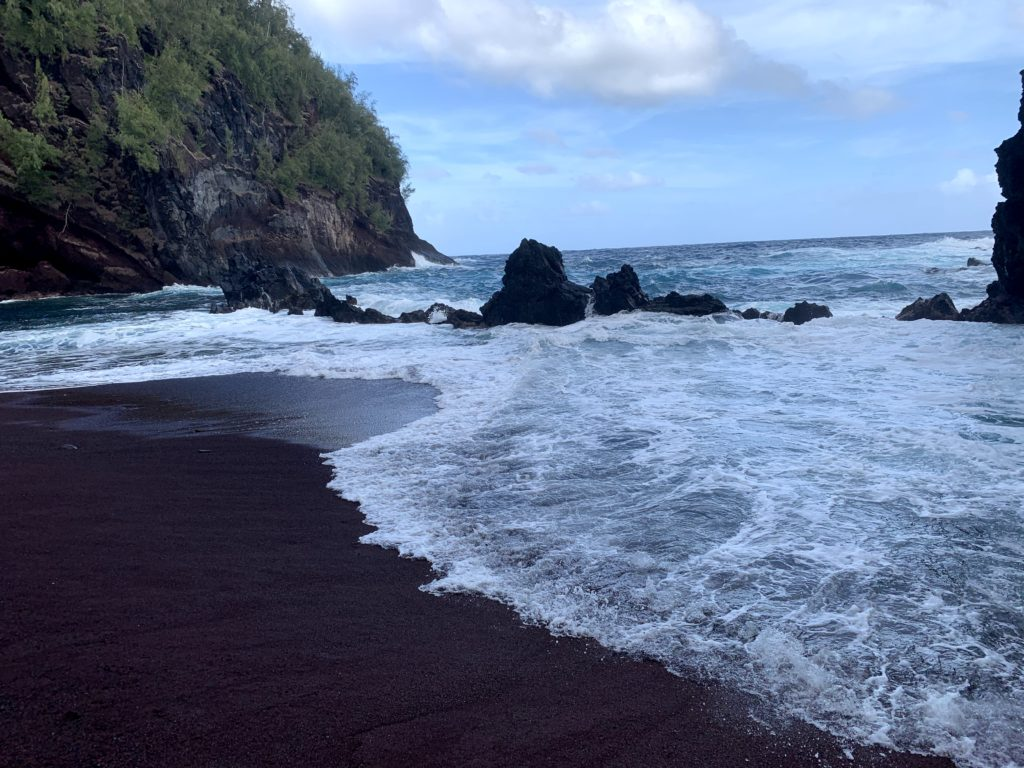 Kaihalulu Red Sand Beach Ocean
