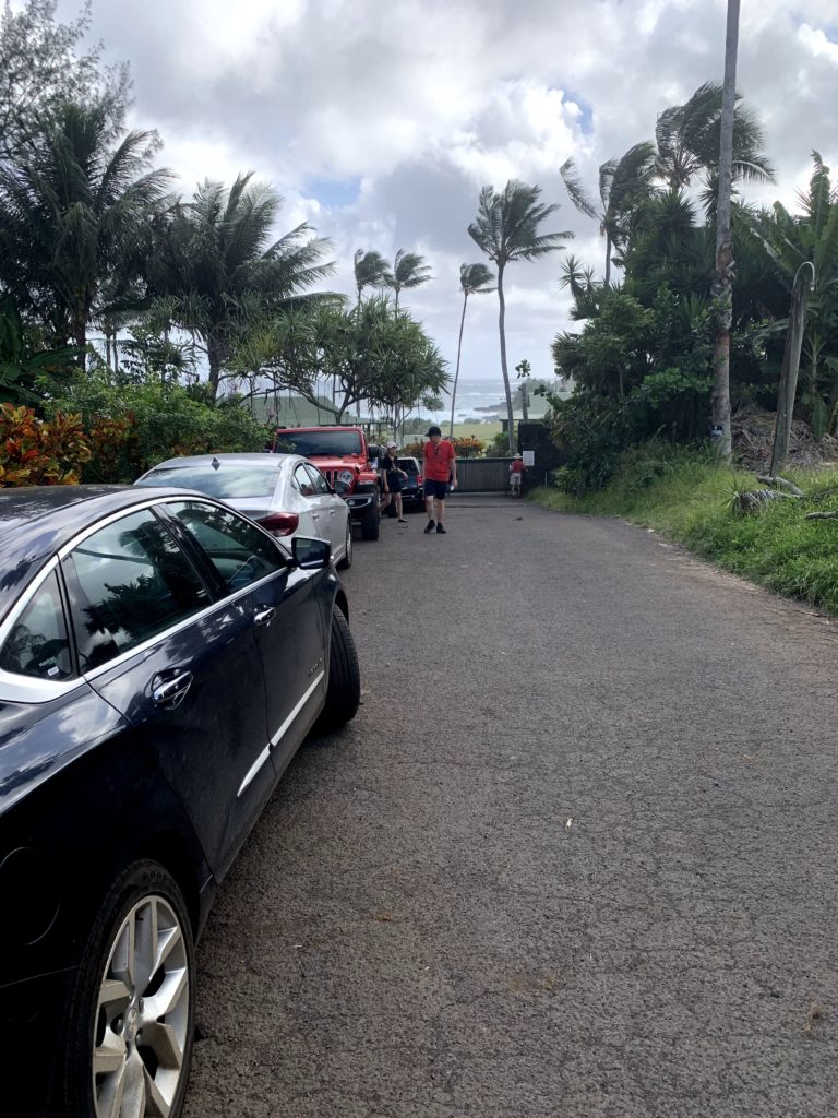 Kaihalulu Red Sand Beach Street Parking