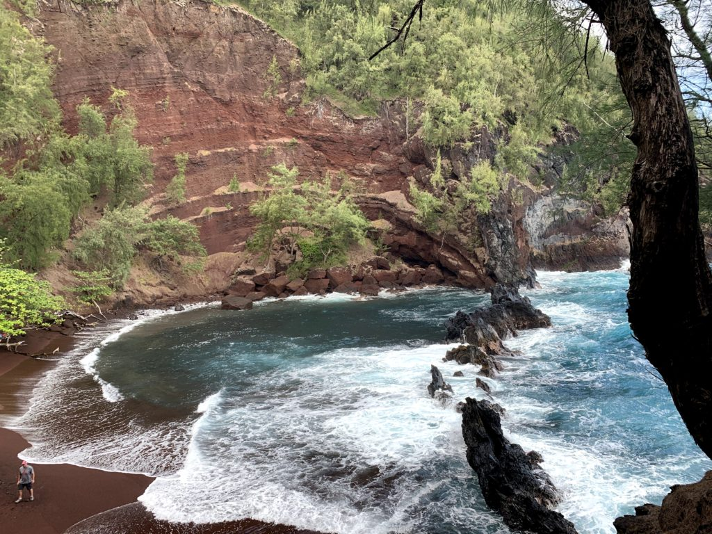 Kaihalulu Red Sand Beach View