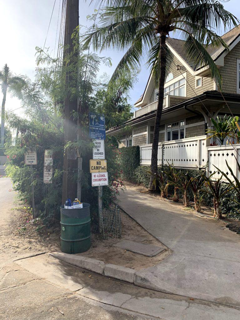 Lahaina Baby Beach Access Path Entrance