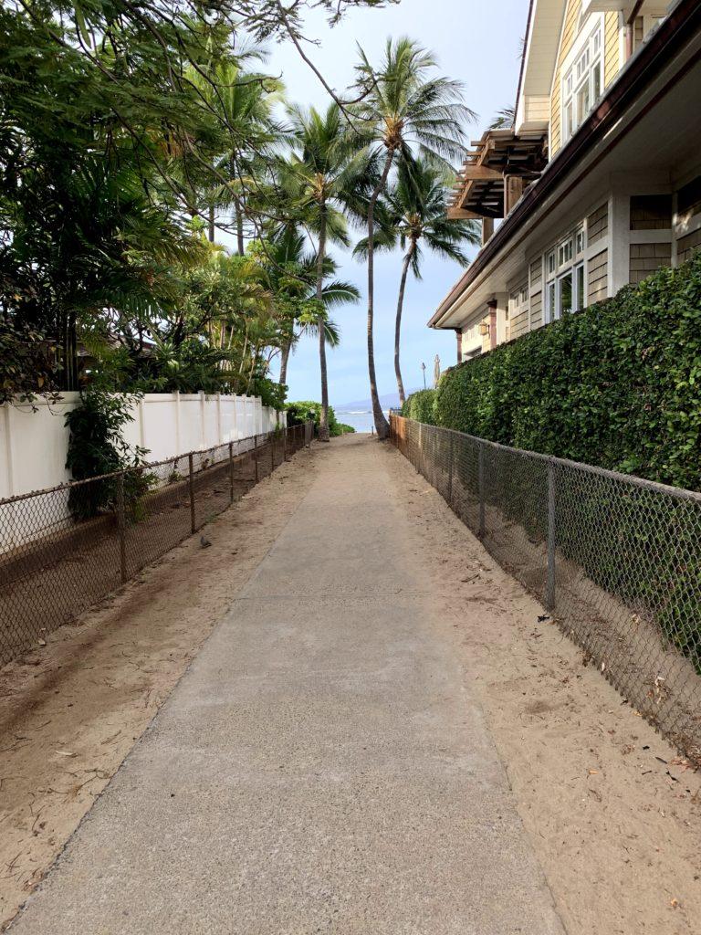 Lahaina Baby Beach Access Path to Beach