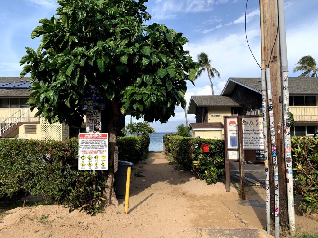 Napili Bay Beach Access Path