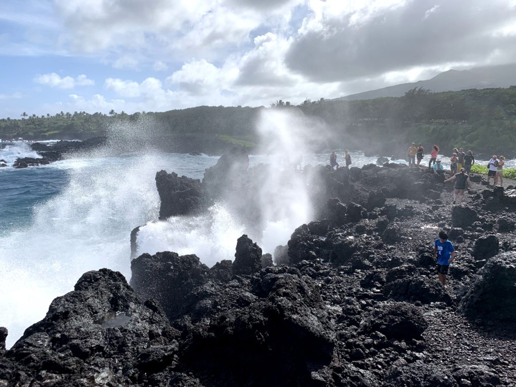 Wai'anapanapa State Park Blowhole Spray