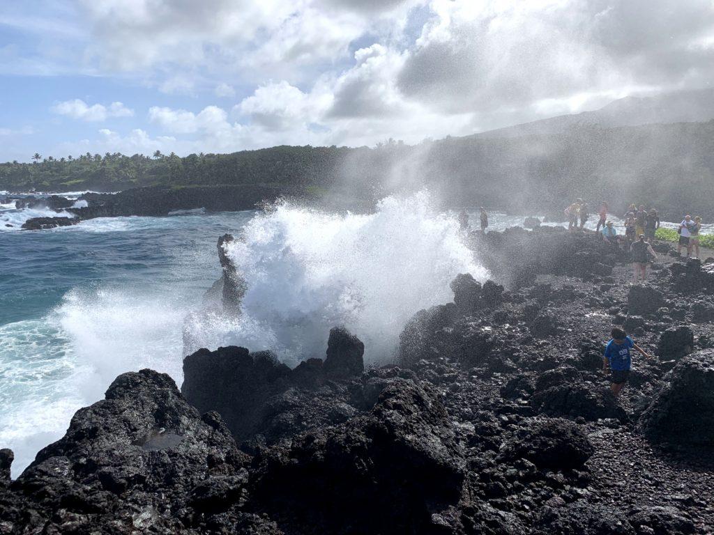 Wai'anapanapa State Park Blowhole Spraying