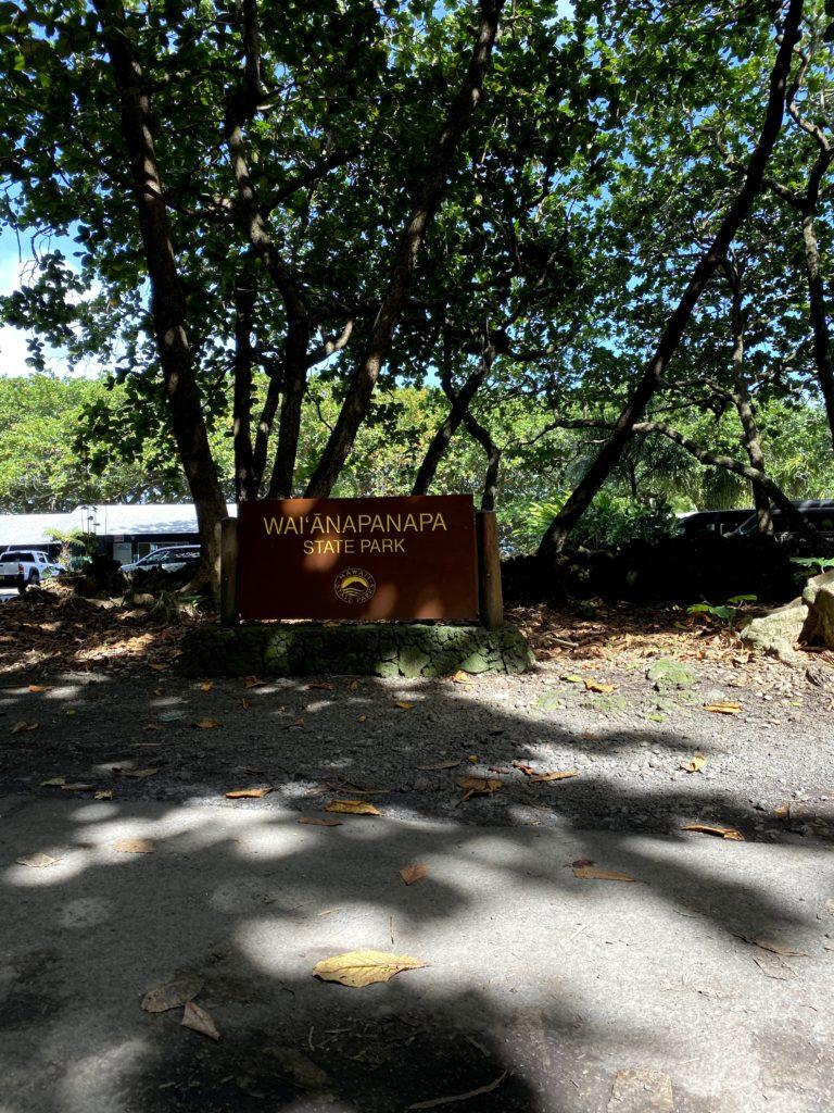 Wai'anapanapa State Park Entrance